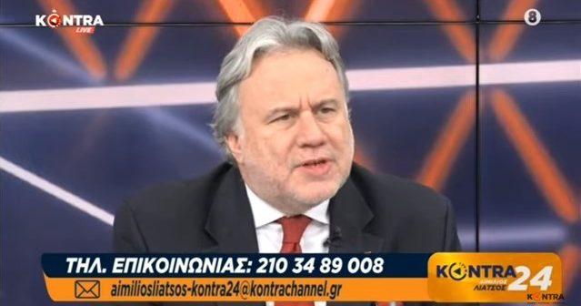 """Ο Γιώργος Κατρούγκαλος στην εκπομπή """"Kontra 24"""" με τον Αιμ.Λιάτσο, 16-12-2019"""
